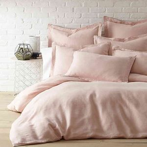 Light Blush Textured Duvet Cover